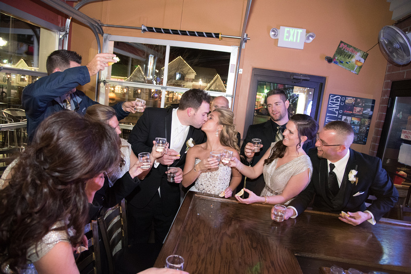 Wedding, Bar, Kissing, Toast